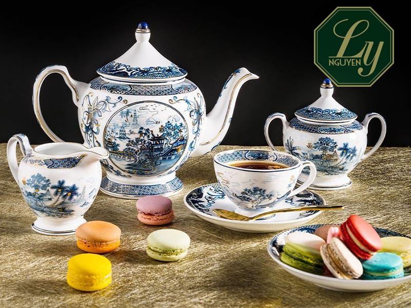 quà tặng ấm trà ly tách bằng gốm sứ